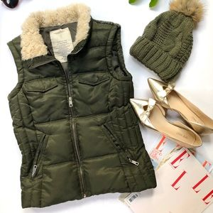 Zara zipped quilted vest